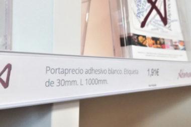 Portaprecio plano con adhesivo, ¡el más utilizado del mundo!